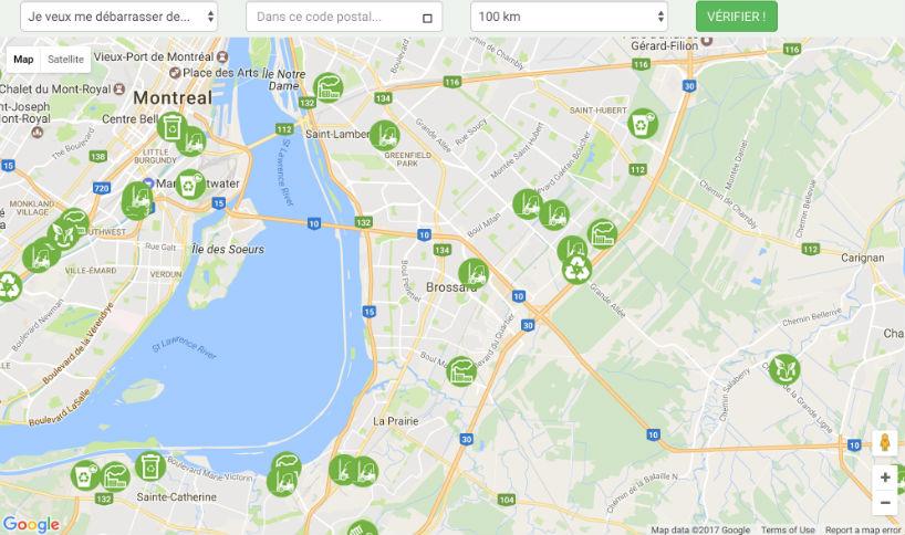 Pour faciliter la vie des citoyens, Grabville leur offre une carte interactive où ils pourront trouver l'ensemble des acteurs de l'économie circulaire dans leur secteur